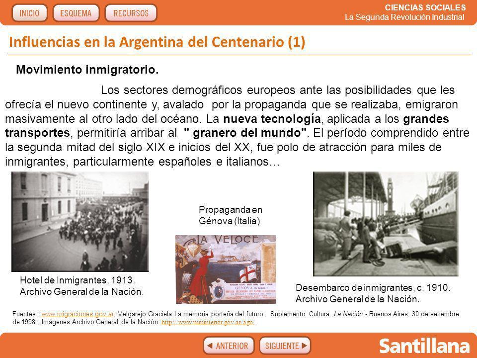 Influencias en la Argentina del Centenario (1)