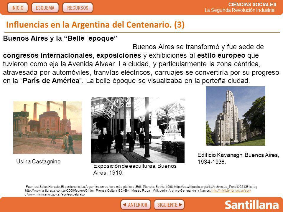 Influencias en la Argentina del Centenario. (3)