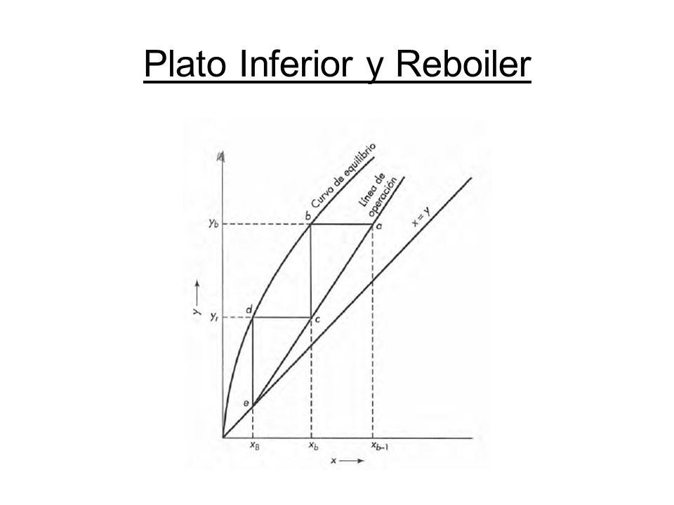 Plato Inferior y Reboiler