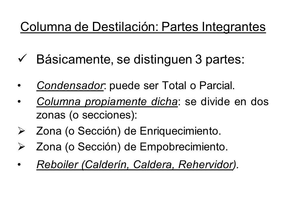 Columna de Destilación: Partes Integrantes