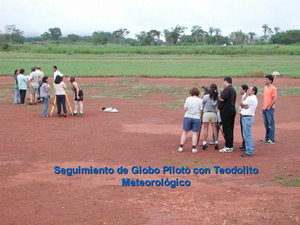 Seguimiento de Globo Piloto con Teodolito Meteorológico