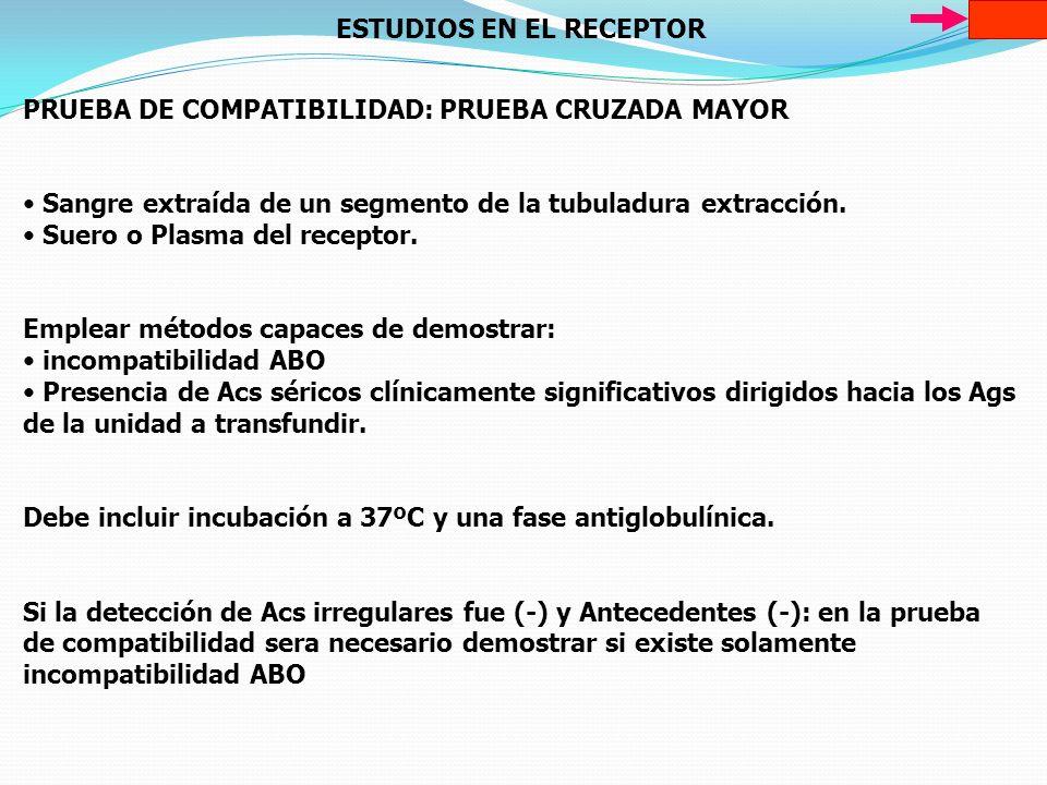 ESTUDIOS EN EL RECEPTOR