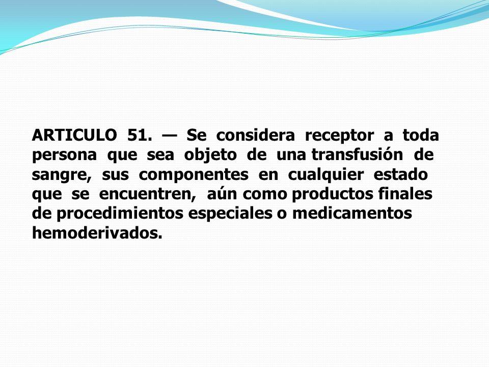 ARTICULO 51.