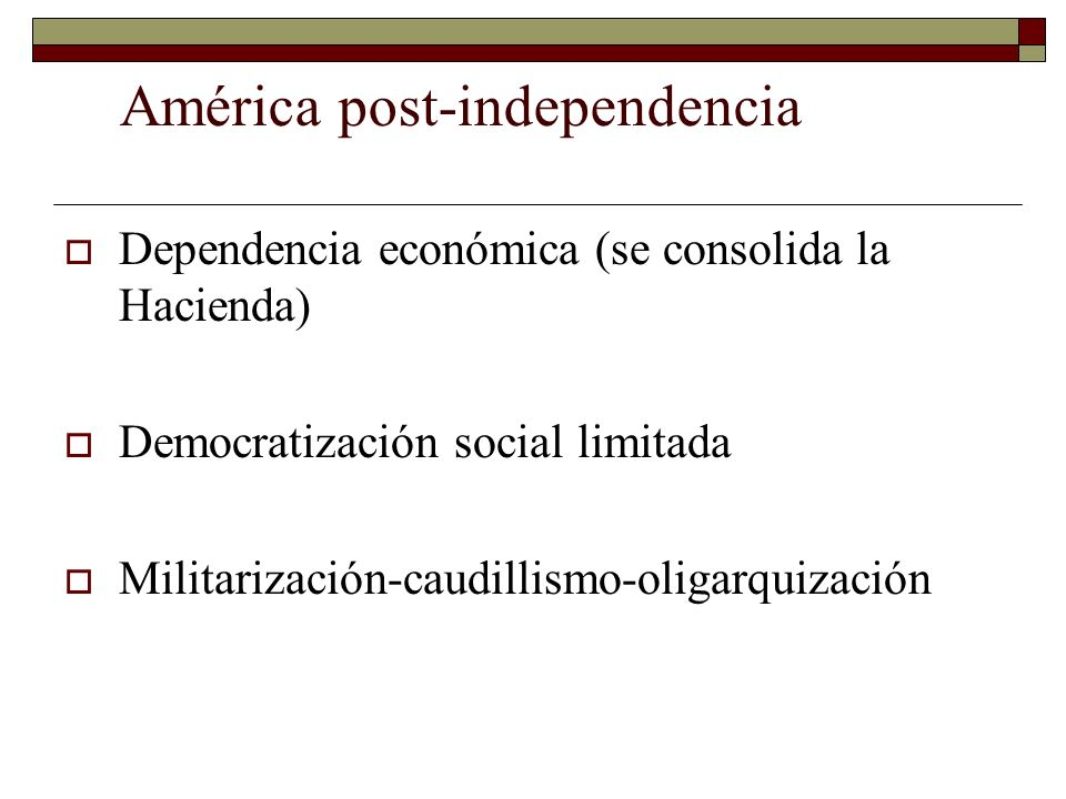 América post-independencia