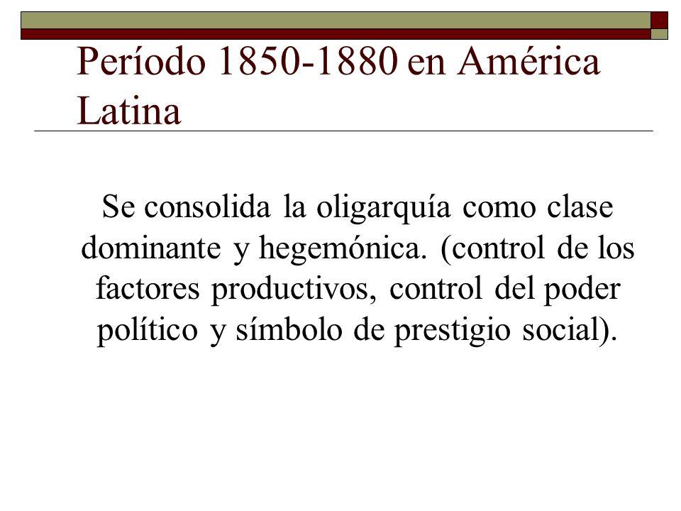 Período 1850-1880 en América Latina