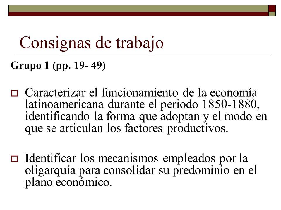 Consignas de trabajoGrupo 1 (pp. 19- 49)
