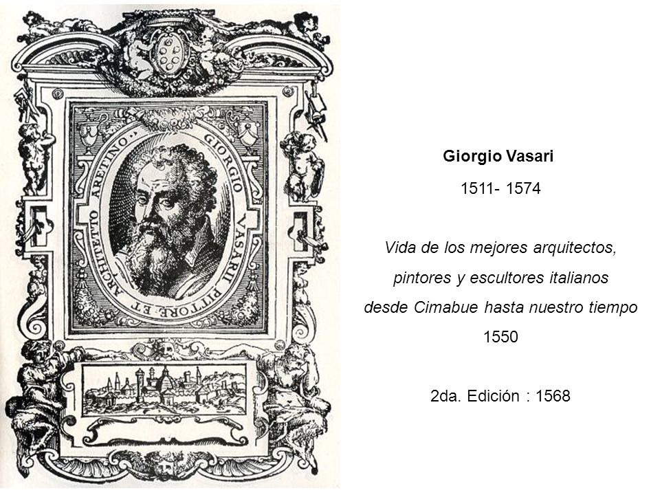 Vida de los mejores arquitectos, pintores y escultores italianos