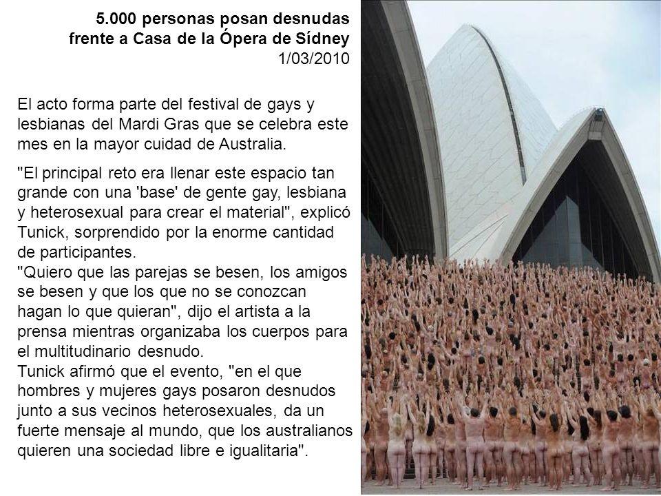 5.000 personas posan desnudas frente a Casa de la Ópera de Sídney
