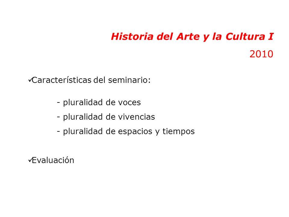 Historia del Arte y la Cultura I 2010
