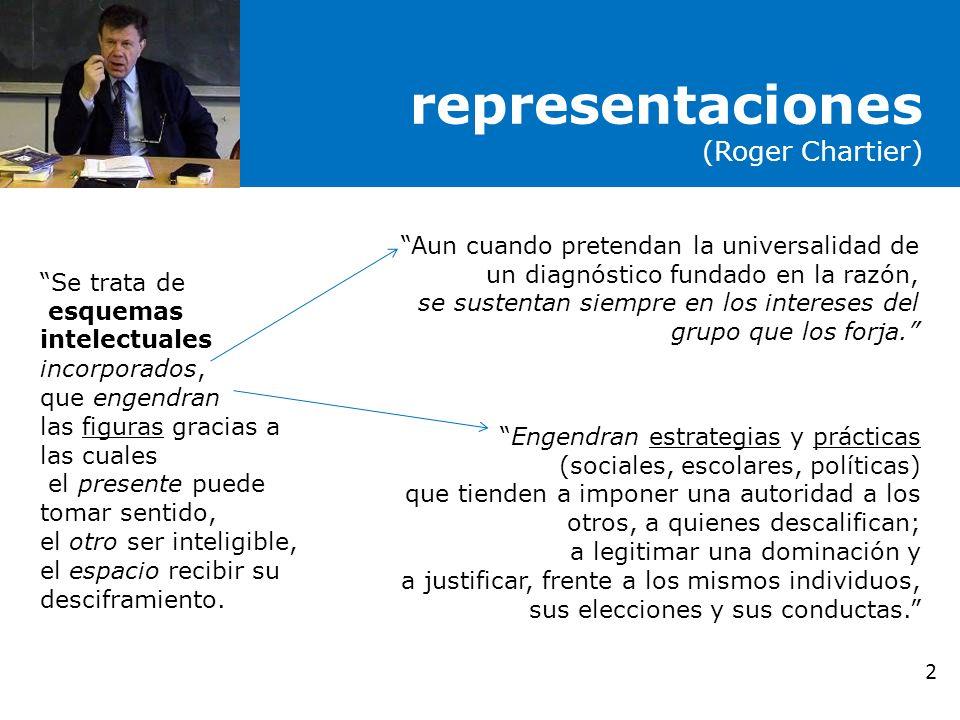 representaciones (Roger Chartier)
