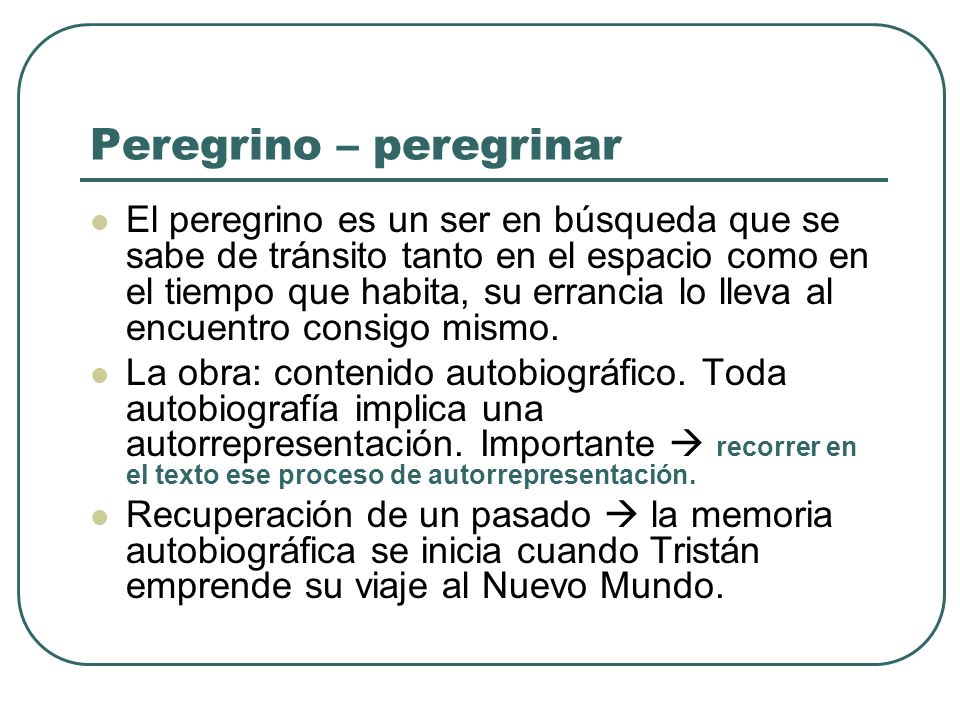 Peregrino – peregrinar