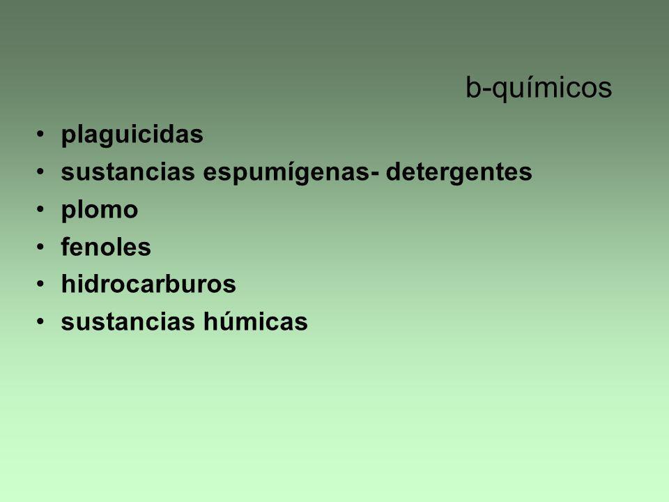 b-químicos plaguicidas sustancias espumígenas- detergentes plomo