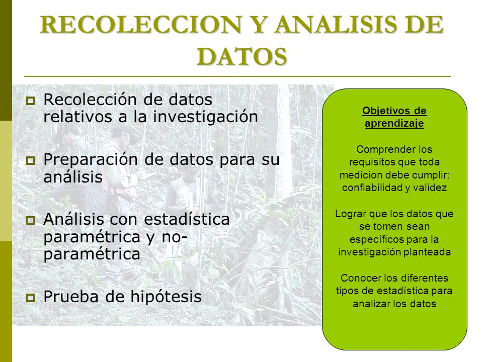 RECOLECCION Y ANALISIS DE DATOS