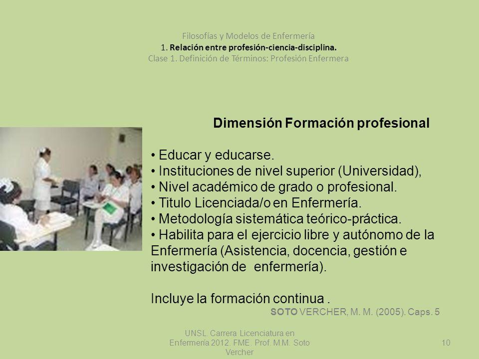 Dimensión Formación profesional
