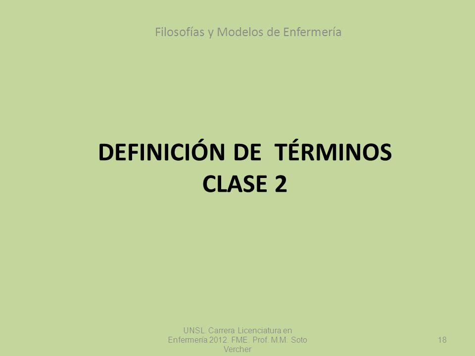 Definición de términos Clase 2