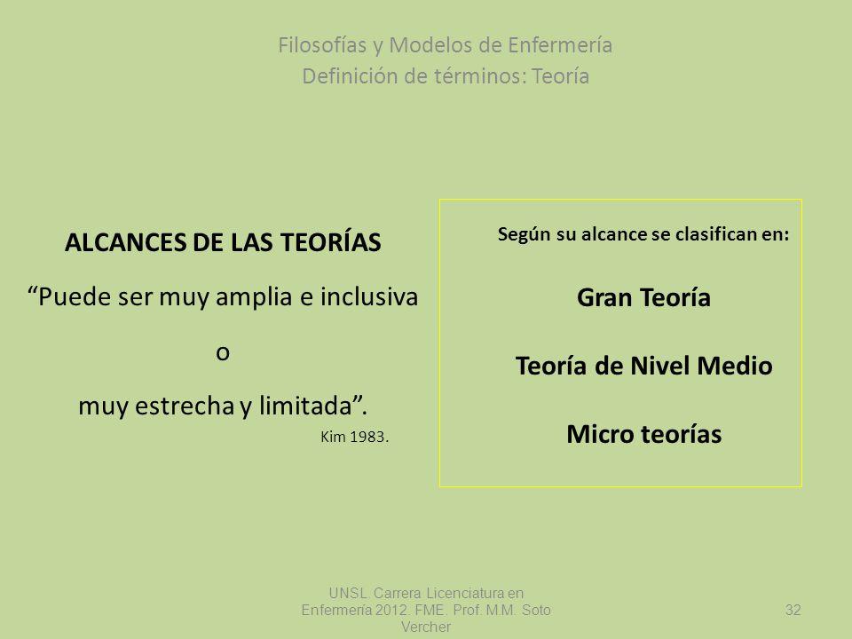 ALCANCES DE LAS TEORÍAS