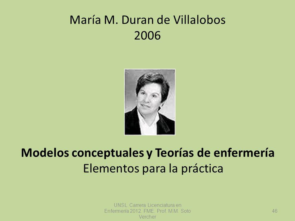 María M. Duran de Villalobos 2006