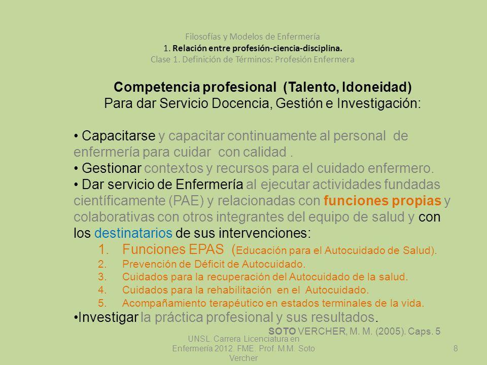 Competencia profesional (Talento, Idoneidad)