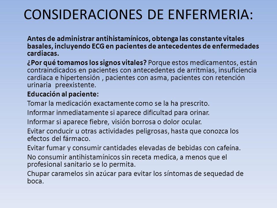 CONSIDERACIONES DE ENFERMERIA: