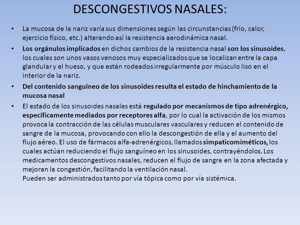 DESCONGESTIVOS NASALES: