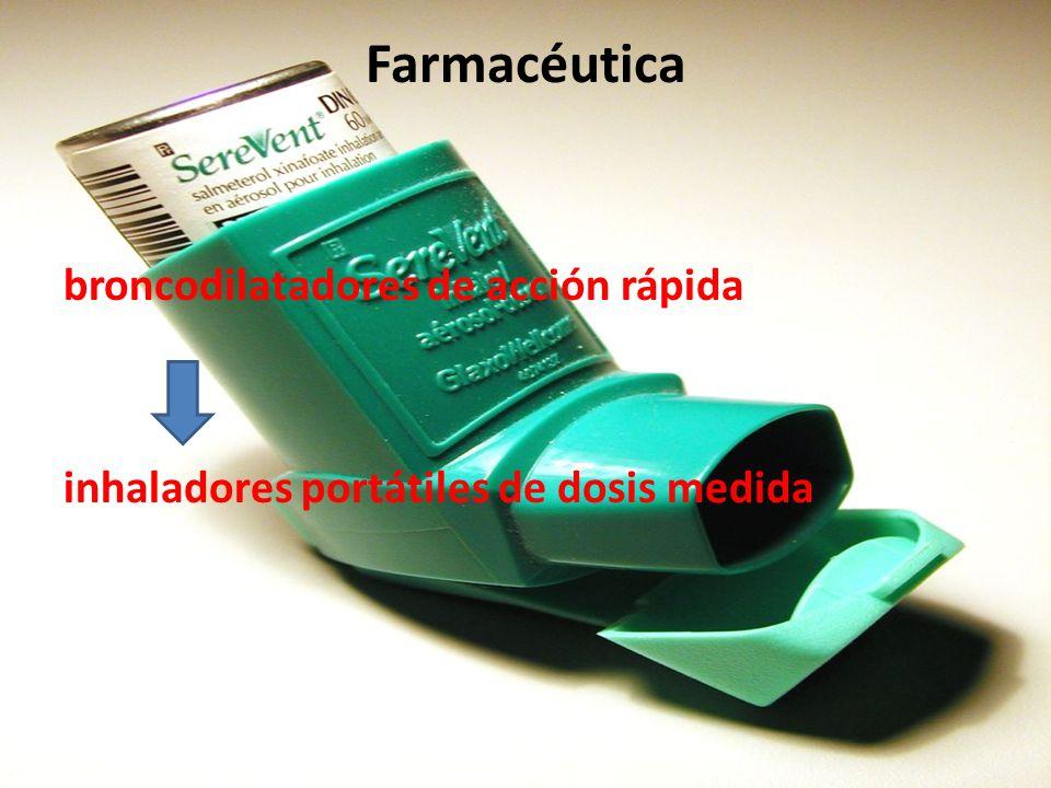 Farmacéutica broncodilatadores de acción rápida inhaladores portátiles de dosis medida