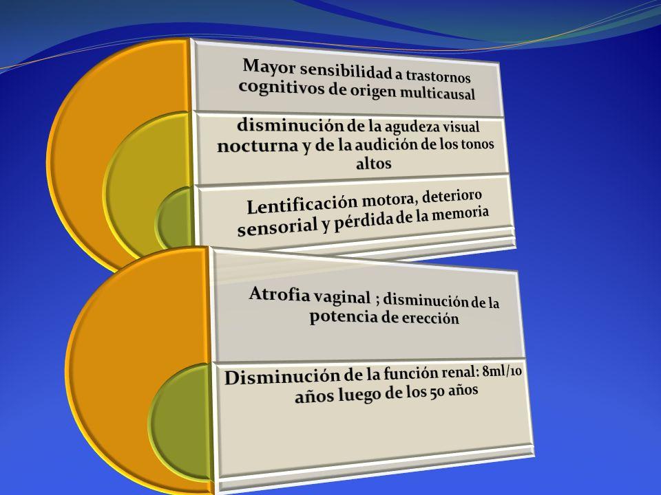 Mayor sensibilidad a trastornos cognitivos de origen multicausal