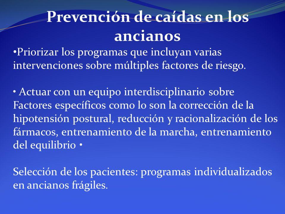 Prevención de caídas en los ancianos