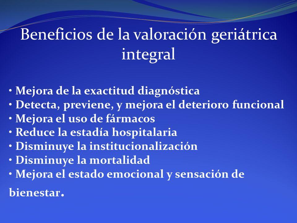Beneficios de la valoración geriátrica integral