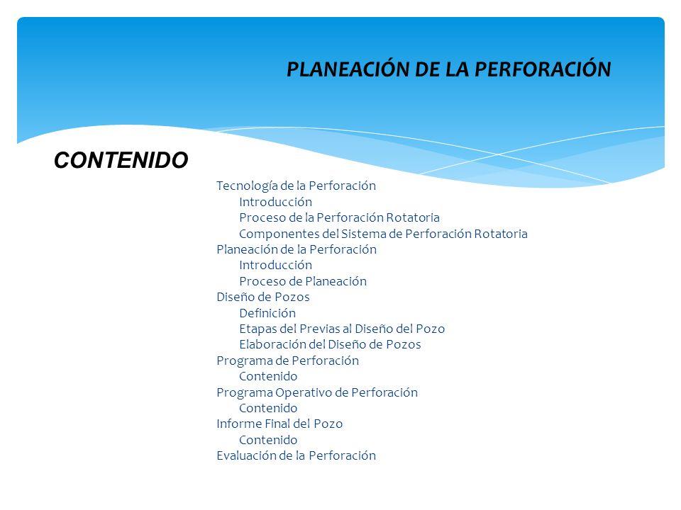 PLANEACIÓN DE LA PERFORACIÓN