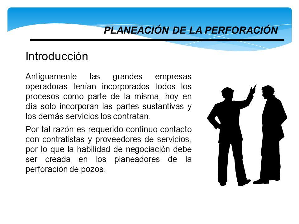 Introducción PLANEACIÓN DE LA PERFORACIÓN