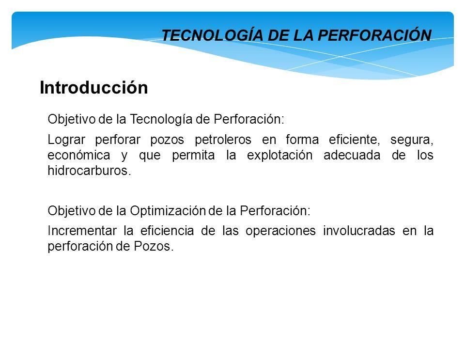 Introducción TECNOLOGÍA DE LA PERFORACIÓN