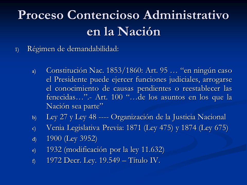 Proceso Contencioso Administrativo en la Nación