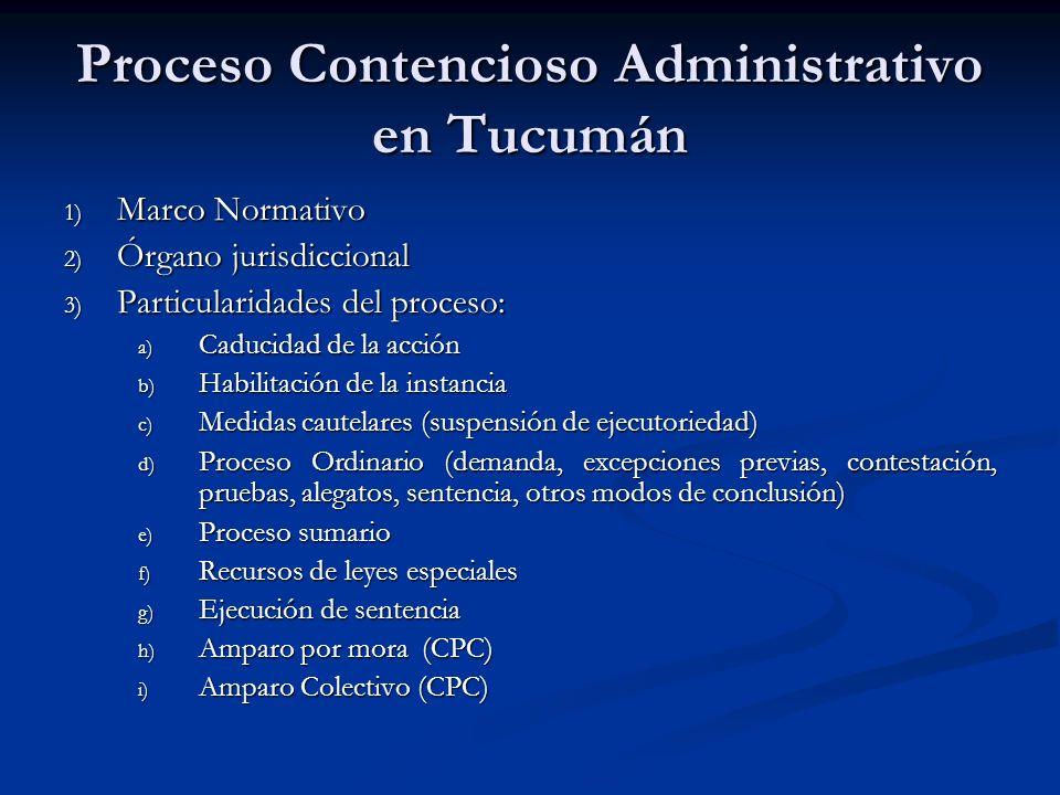 Proceso Contencioso Administrativo en Tucumán