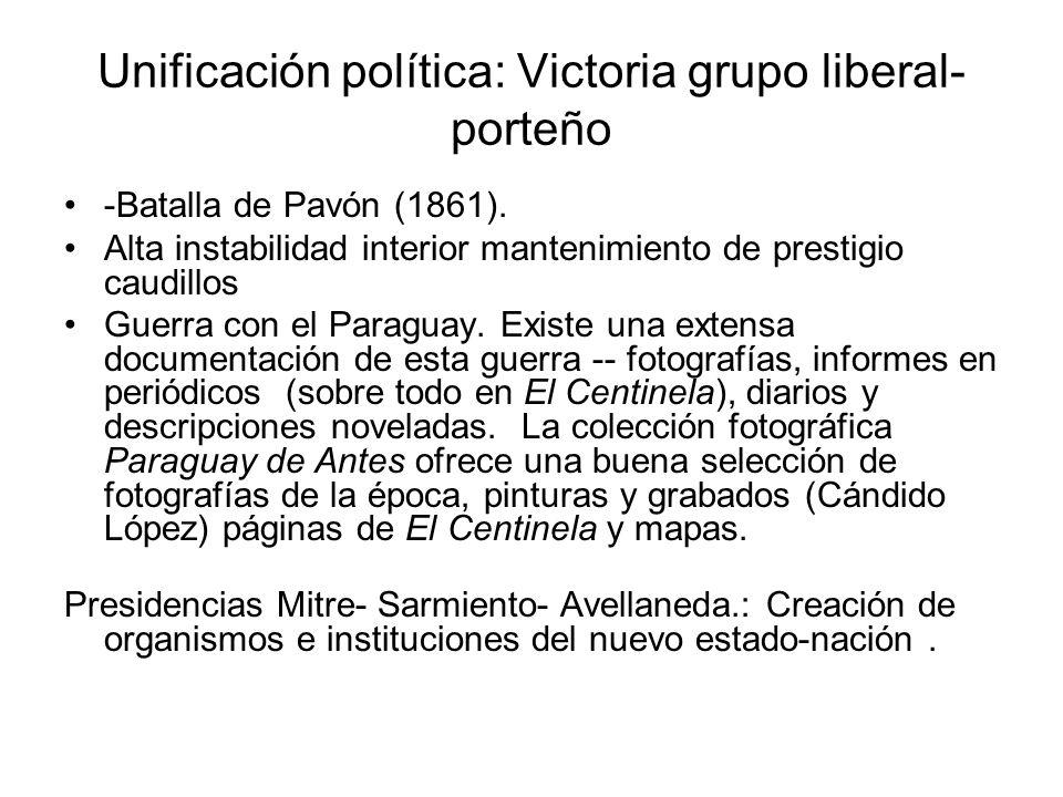 Unificación política: Victoria grupo liberal-porteño