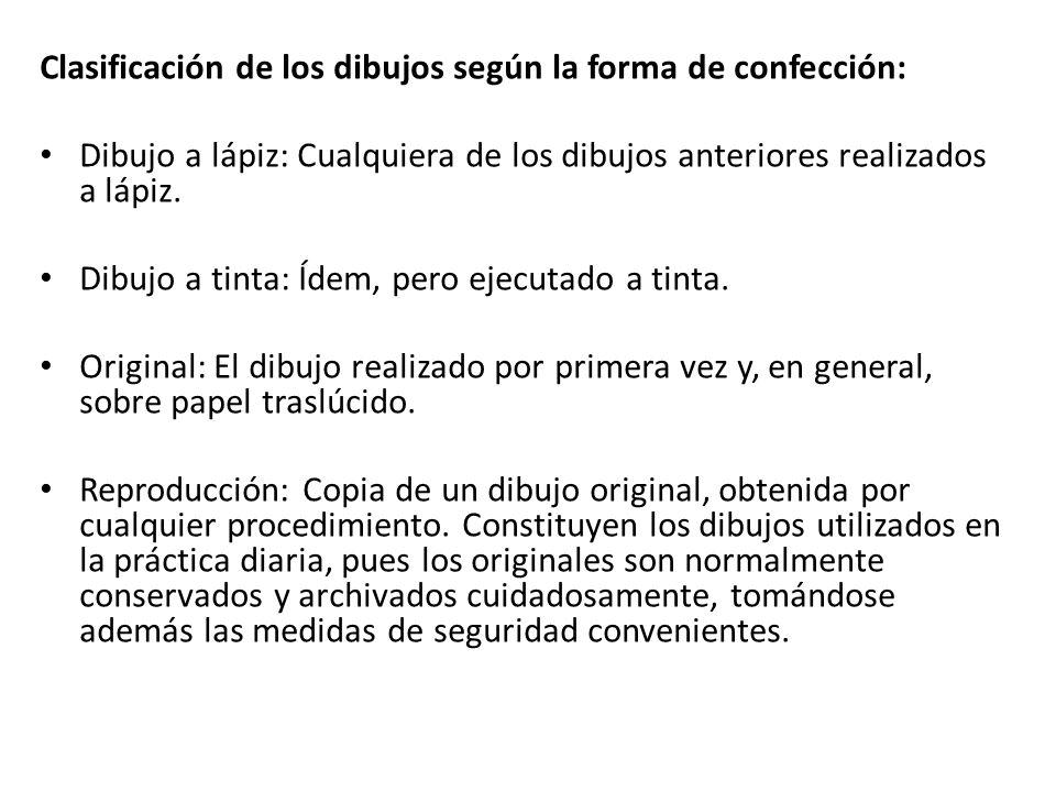 Clasificación de los dibujos según la forma de confección: