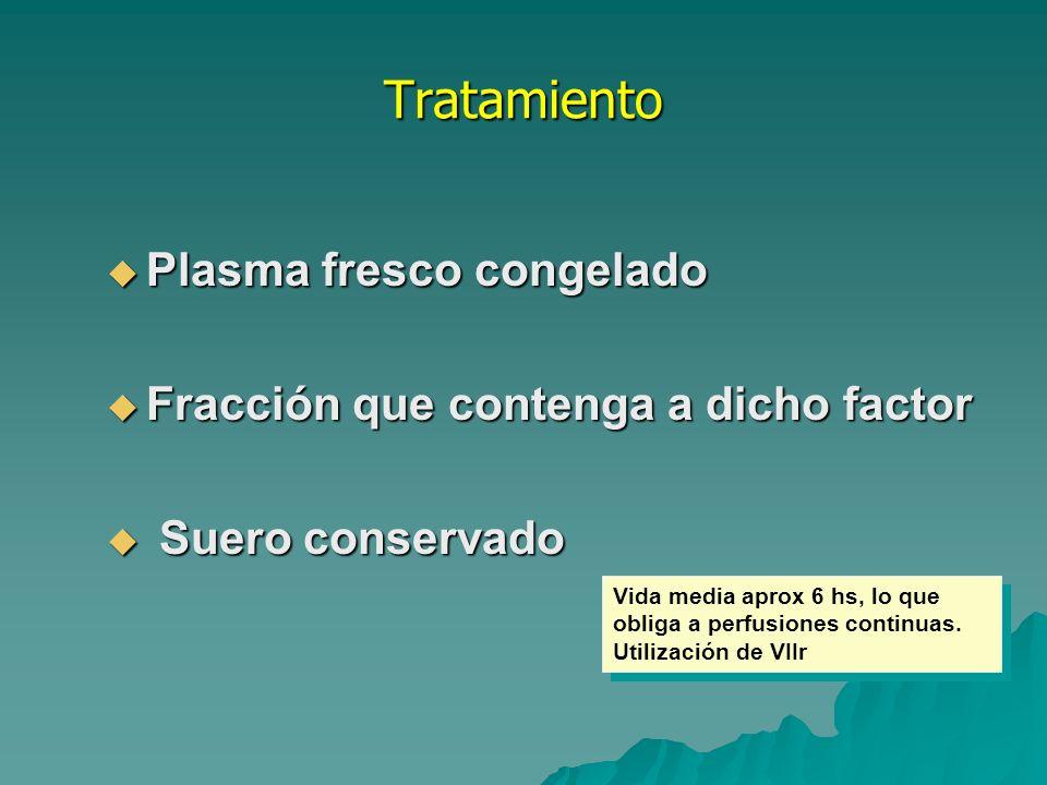 Tratamiento Plasma fresco congelado