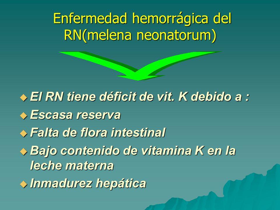 Enfermedad hemorrágica del RN(melena neonatorum)