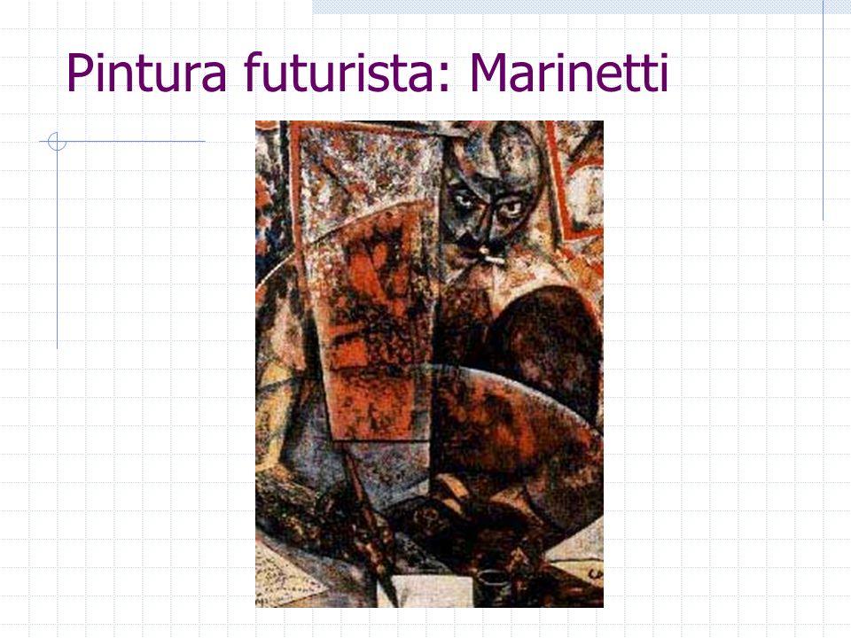 Pintura futurista: Marinetti