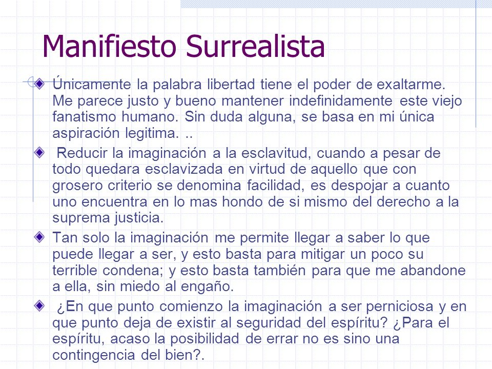 Manifiesto Surrealista