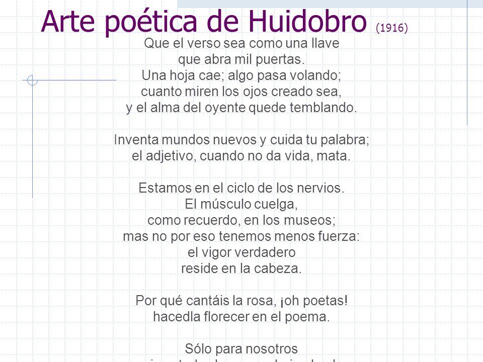 Arte poética de Huidobro (1916)