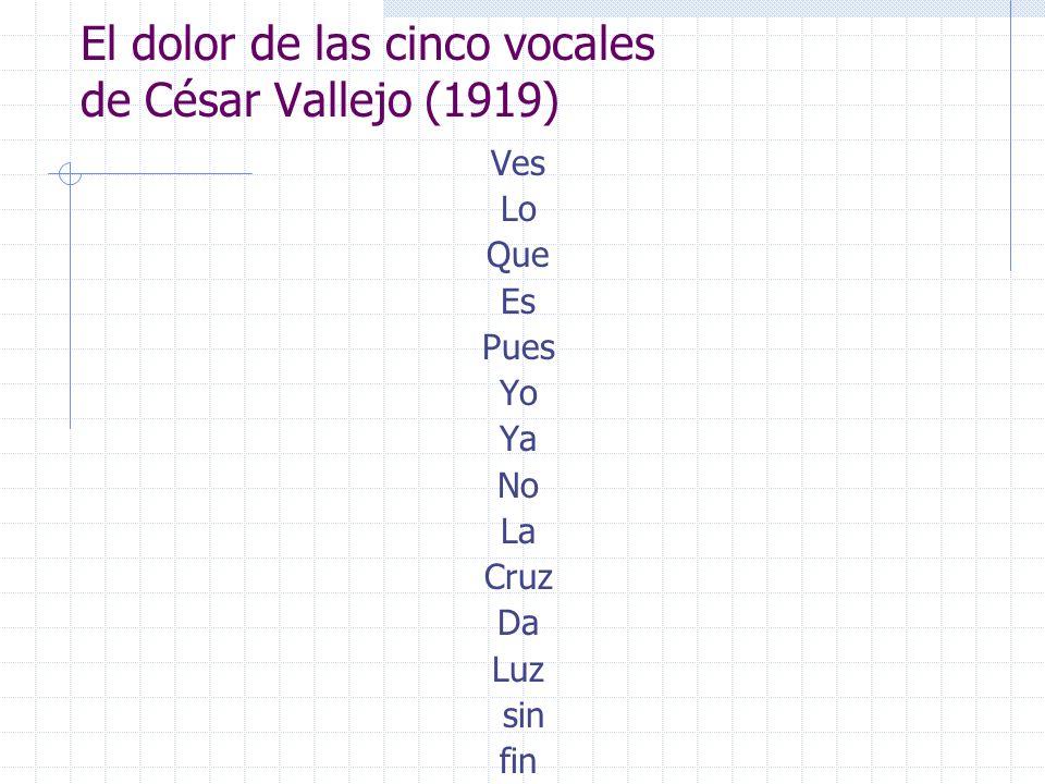 El dolor de las cinco vocales de César Vallejo (1919)