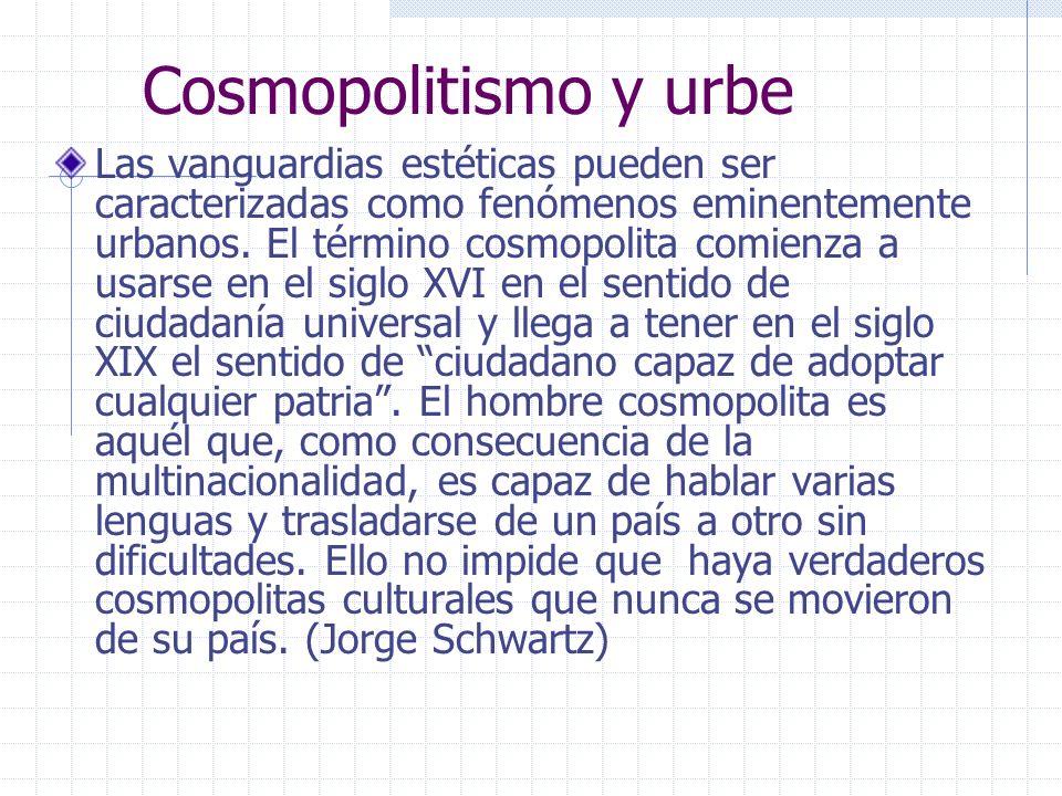 Cosmopolitismo y urbe