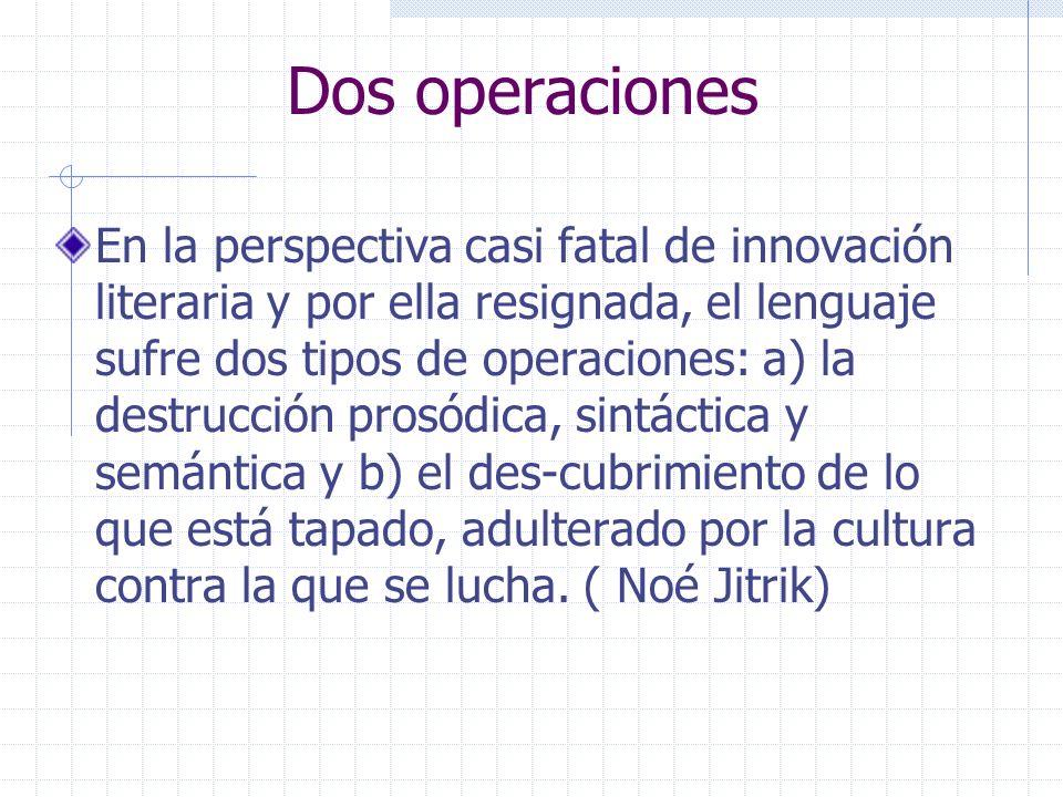 Dos operaciones