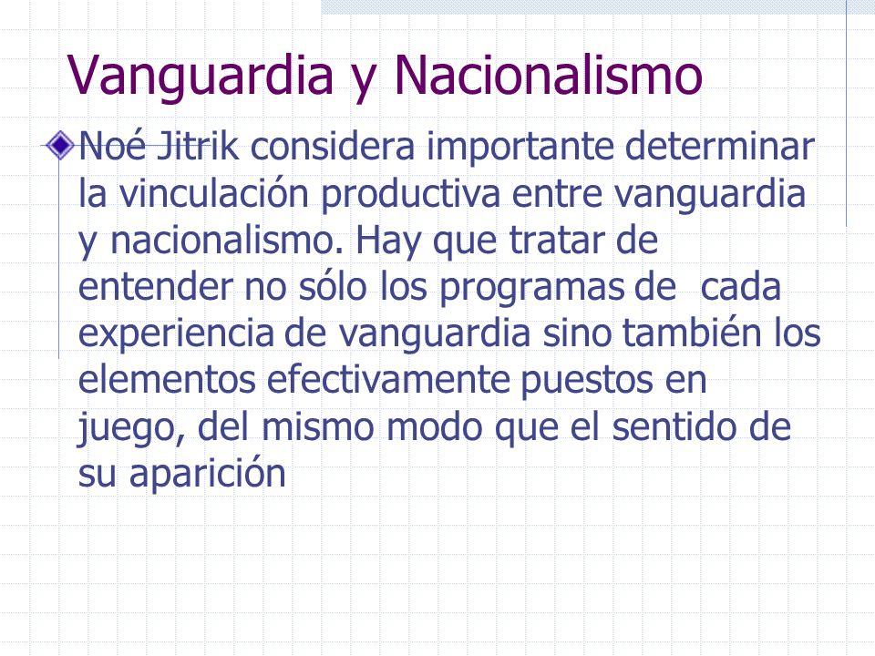 Vanguardia y Nacionalismo