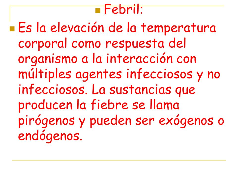 Febril: