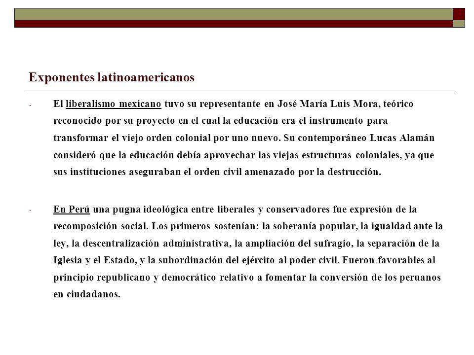 Exponentes latinoamericanos