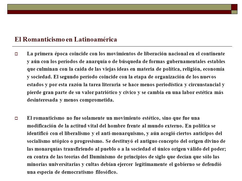 El Romanticismo en Latinoamérica