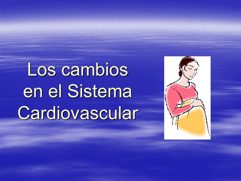 Los cambios en el Sistema Cardiovascular