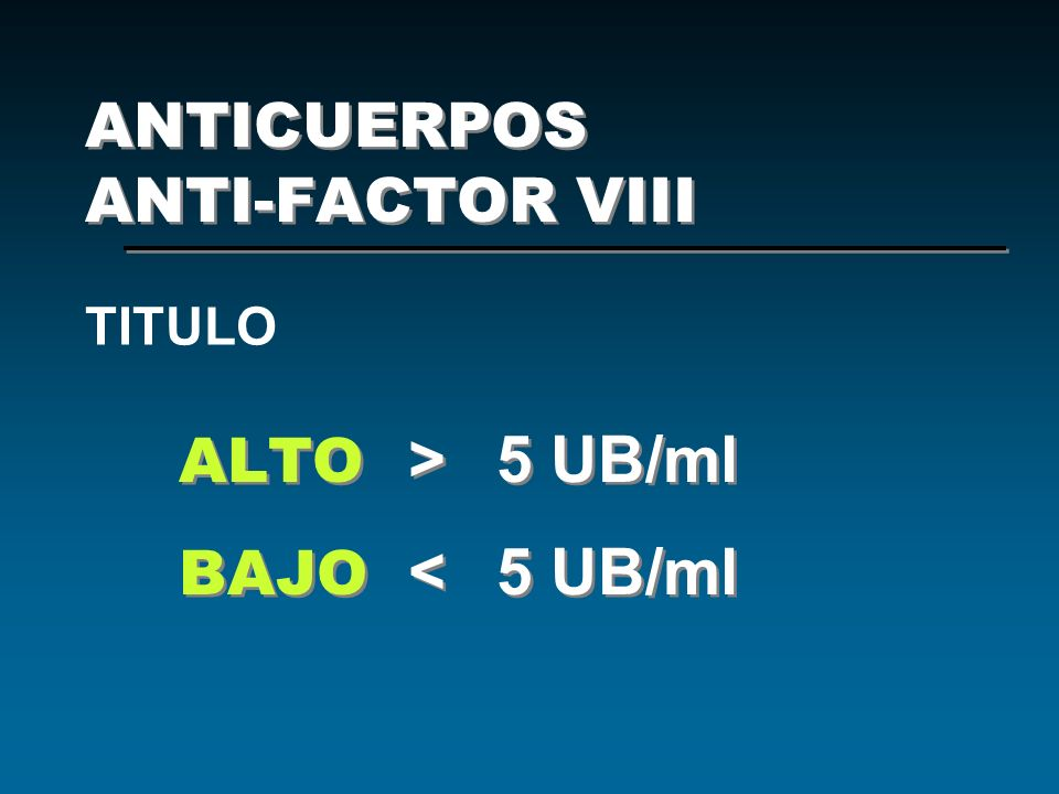 ANTICUERPOS ANTI-FACTOR VIII
