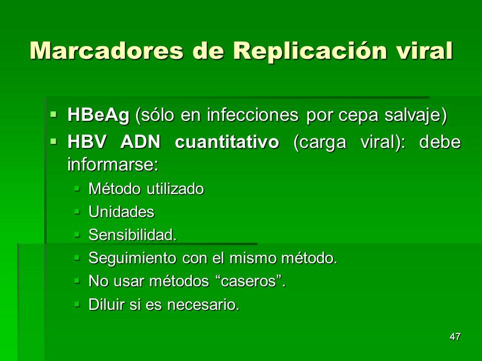 Marcadores de Replicación viral